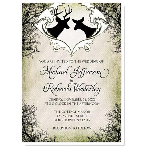 Wedding Invitations - Rustic Deer Frame Canvas