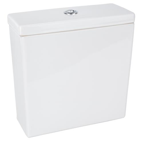 White Ceramic Toilet Cistern - Chrome Flush Button - Fixings Included