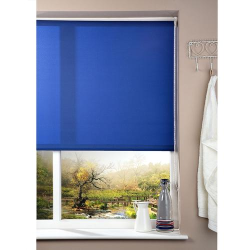 Corded Roller Blind - Blue - 142cm x 180cm