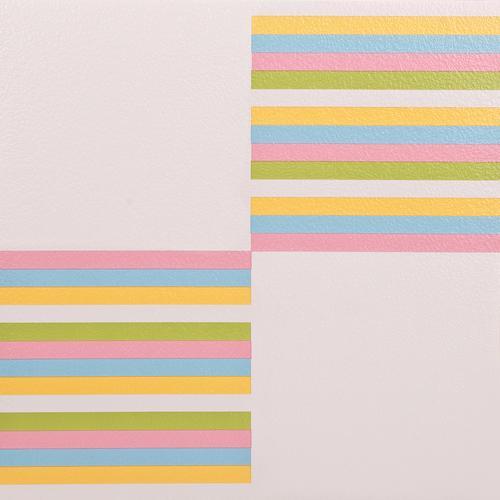11x Vinyl Tiles Flooring Commercial - White Stripe - 1m2