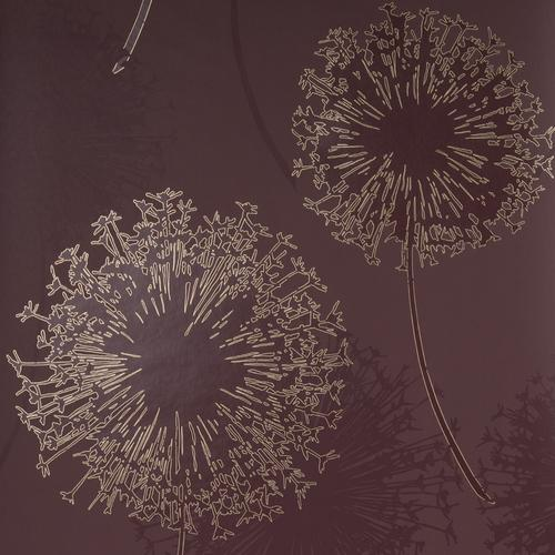 Blendworth Anthology Alium Floral  Brown Wallpaper
