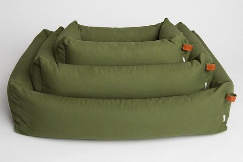 DOG BED SLEEPY ORGANIC CANVAS NEW GREEN