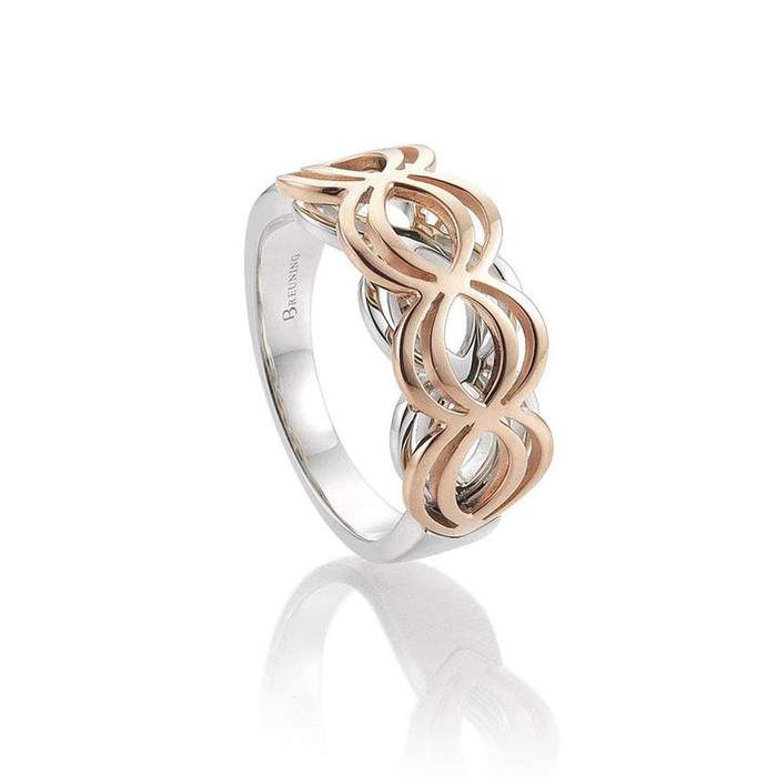 Rose Gold Plated Sterling Silver Ring - 44/01509