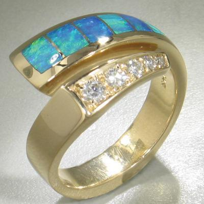 Opal & Diamond Ring - 16155