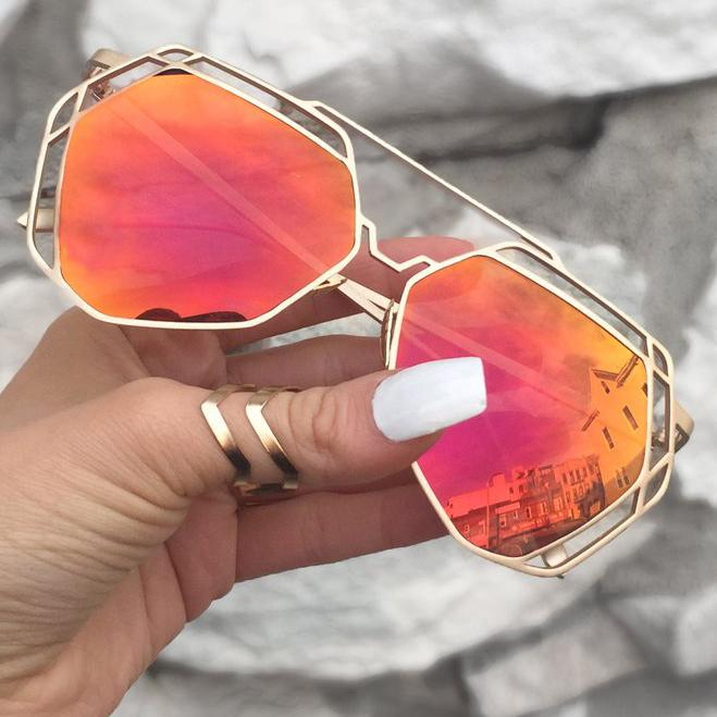 Arrest Me Sunnies - Sunset (Red - Orange Lens)
