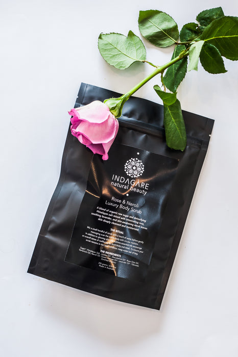 Rose & Neroli Luxury Body Scrub- Organic Ingredients