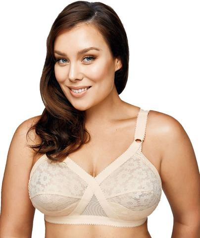 Playtex Cross Your Heart Wire-Free Lace Bra - Beige