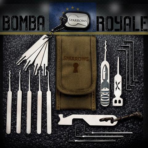 Sparrows Bomba Royale Slim Line Pick Set + Case
