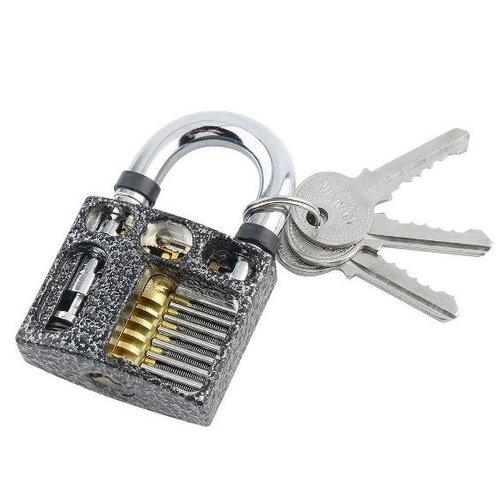 Cut Away 7-Pin Practice Padlock for Lock Picking