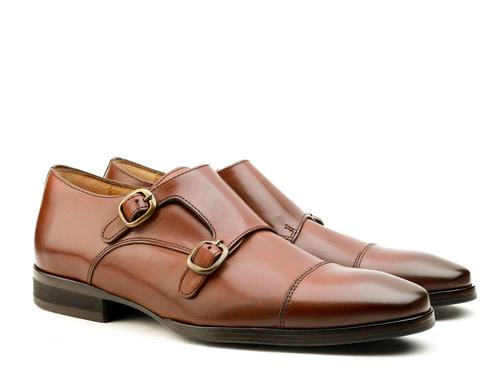 Ferragamo Italy Mens Brown Leather Dress Loafers Strap Buckle Shoes 11.5 D Fine Workmanship Men's Shoes Clothing, Shoes & Accessories