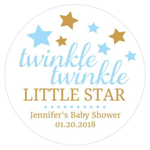 Twinkle twinkle little star baby shower stickers