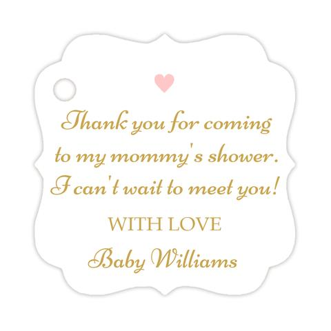Thank you for coming to my mommy's shower tags (set of 15)