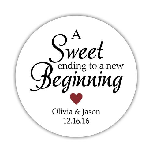 A sweet ending to a new beginning stickers