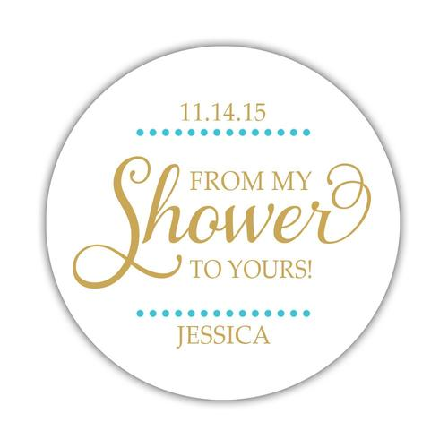 From my shower to yours stickers Delicate Dots