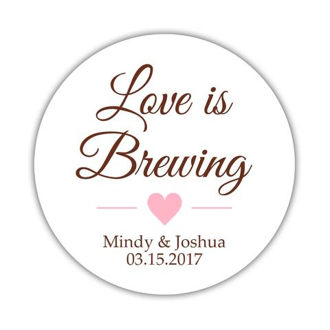Love is brewing stickers