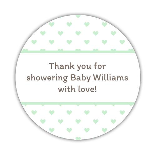 Baby shower stickers 'Mini Hearts'