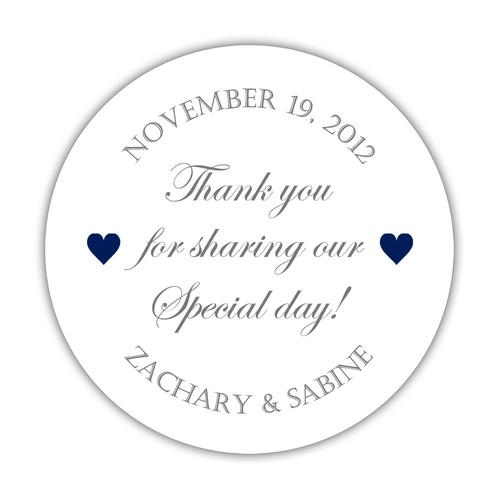 Thank you for sharing our special day stickers