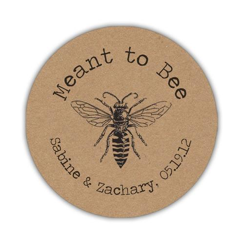 Meant to bee stickers Rustic Kraft