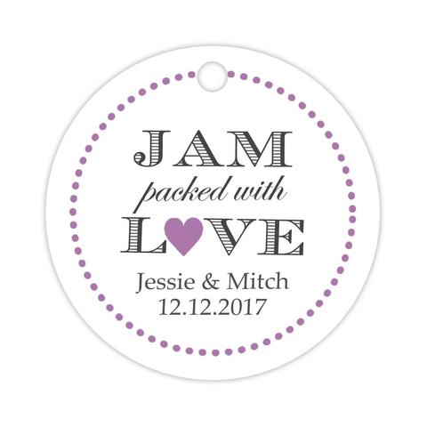 Jam packed with love tags (set of 15)