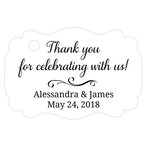 Thank you for celebrating with us tags