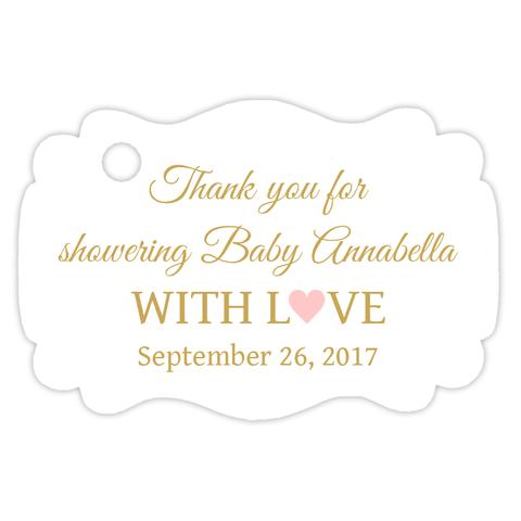 Baby shower thank you tags (set of 15)