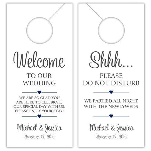 Wedding door hangers 'Classy Charm'