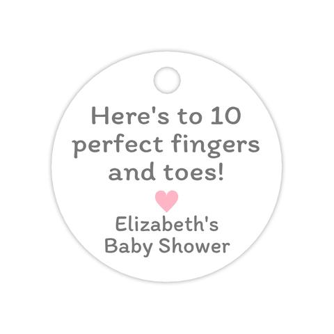 Here's to 10 perfect fingers and toes tags