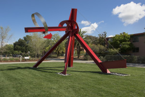 """The Sieve of Eratosthenes,"" Mark di Suvero, 1999. The gift of Agnes Gund and Daniel Shapiro, it was dedicated to John Henry Merryman on his 80th birthday in recognition of his extraordinary contributions to art and cultural property law."