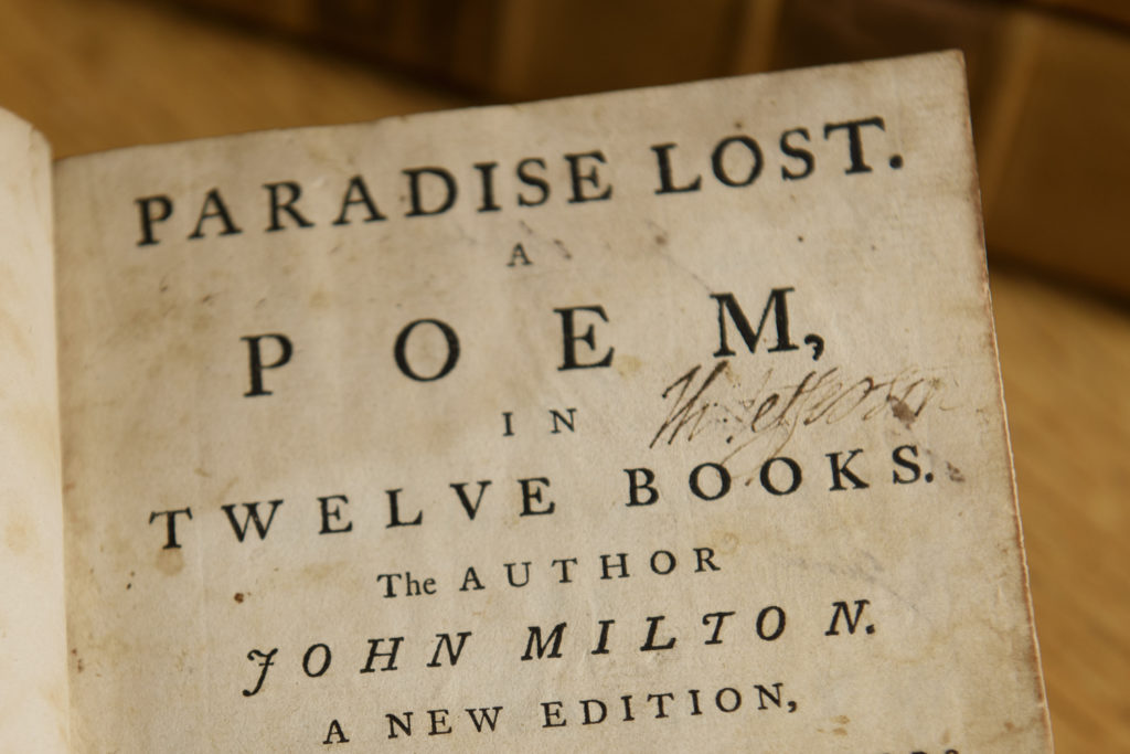 John Milton had been Oliver Cromwell's Latin secretary and a republican theorist. Several prominent American revolutionaries viewed him kindly. Jefferson entered many quotations from Paradise Lost in the literary commonplace book he kept in his youth.