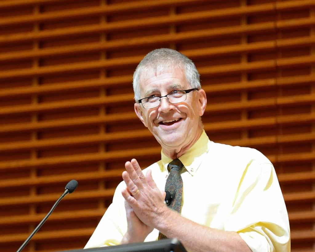 James T. Campbell, the Edgar E. Robinson Professor of History, explores ways in which the circumstances of Stanford's birth guide the university in its second century and beyond at Cemex Auditorium on Oct. 6.