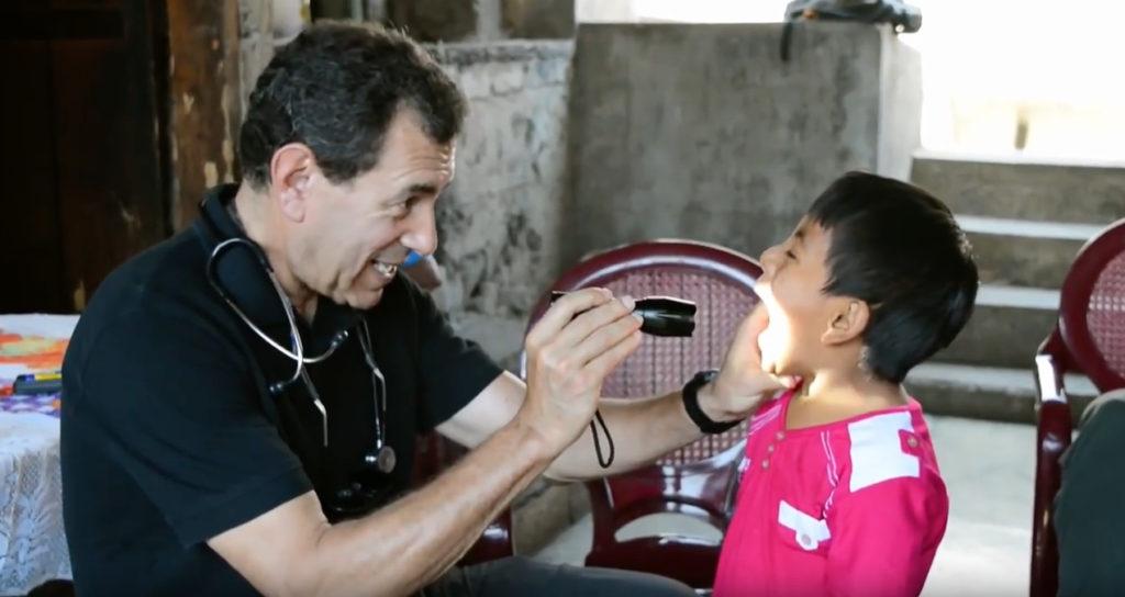 Stanford pediatrician Paul Wise at work in Guatemala.
