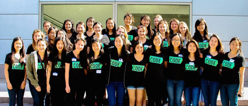 Stanford student mentors at Girls Teaching Girls To Code's summer Code Camp in 2015.