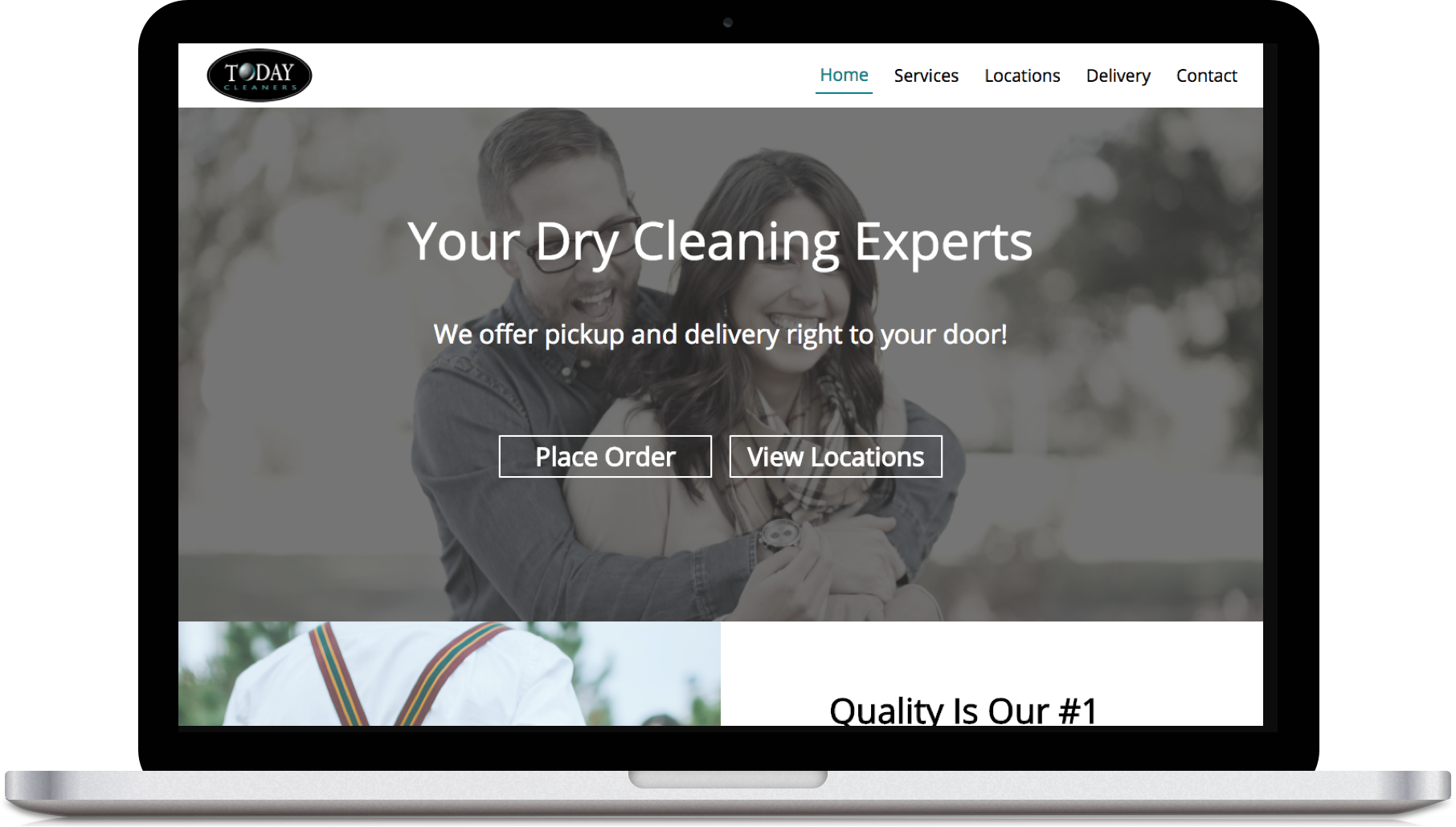 Dry Cleaners Website - Today Cleaners