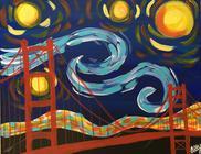 Starry Night Over Bridge