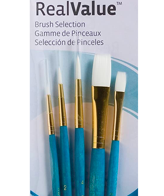 SMALL Brush Set (5 Pack)  For 11×14 Or Smaller Canvas