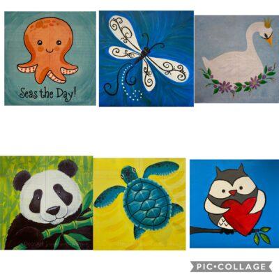 11×14 Presketched Canvas Designs