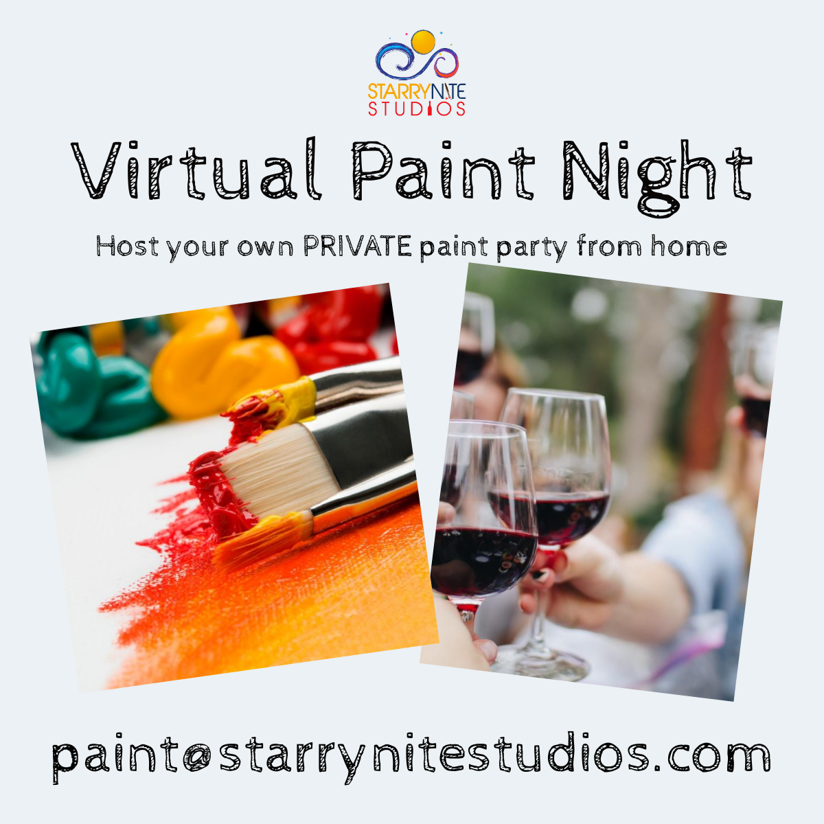 VIRTUAL Paint Party Instructional Videos