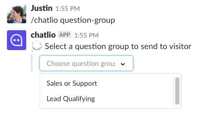 Chatlio Question Group Shortcut