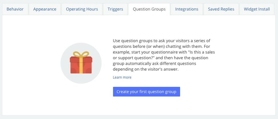 question group dashboard