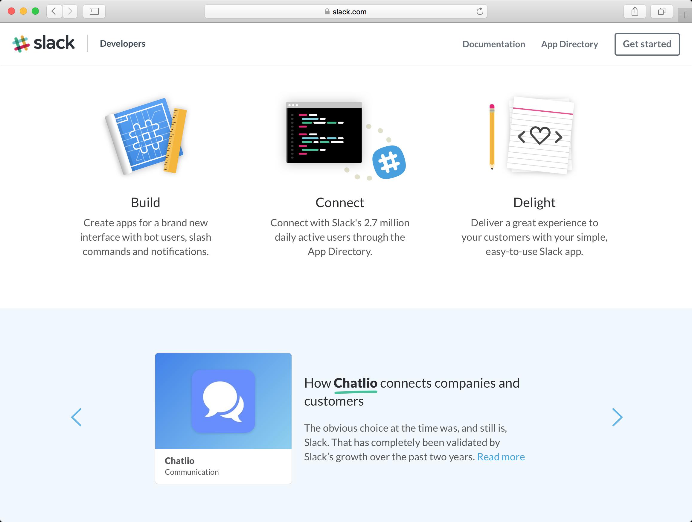 Slack live chat app