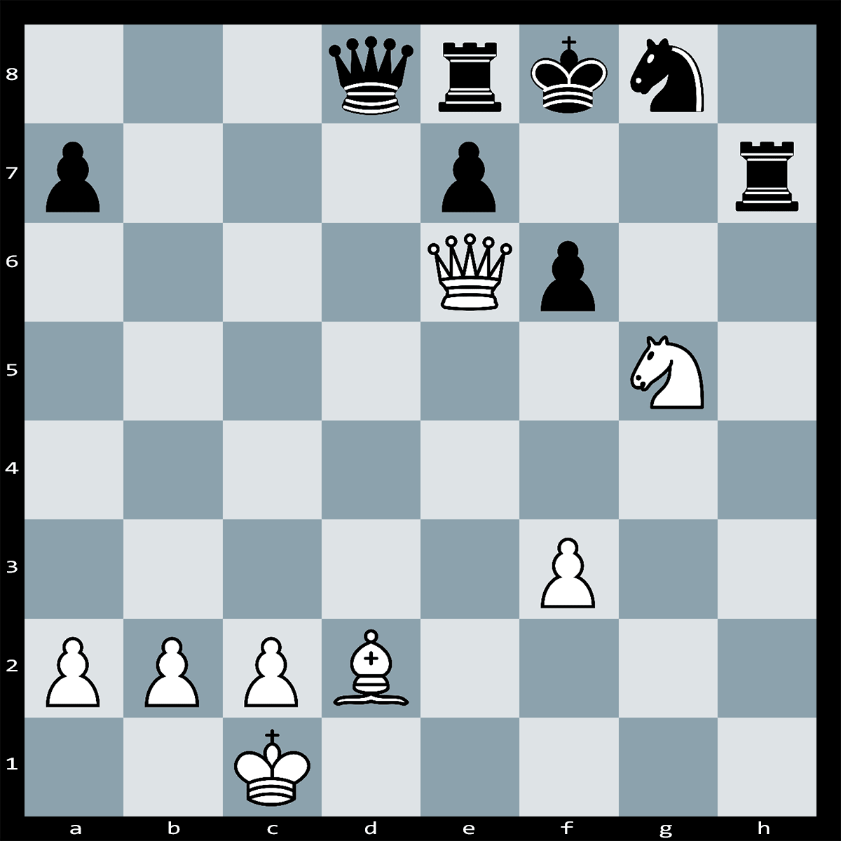 Chess Puzzle #324 | In this position White can force checkmate in two moves. Can you see how this is achieved?