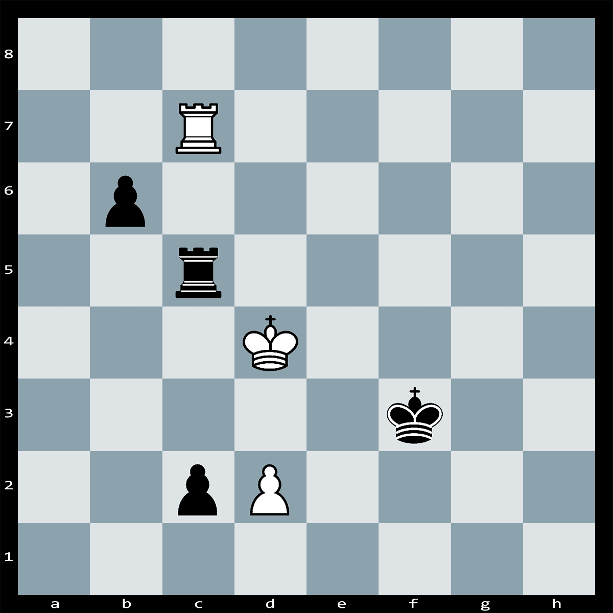 Chess Puzzle #338 | Black has a passed c-pawn, but it is White who has the move, Is there an easy way to draw?