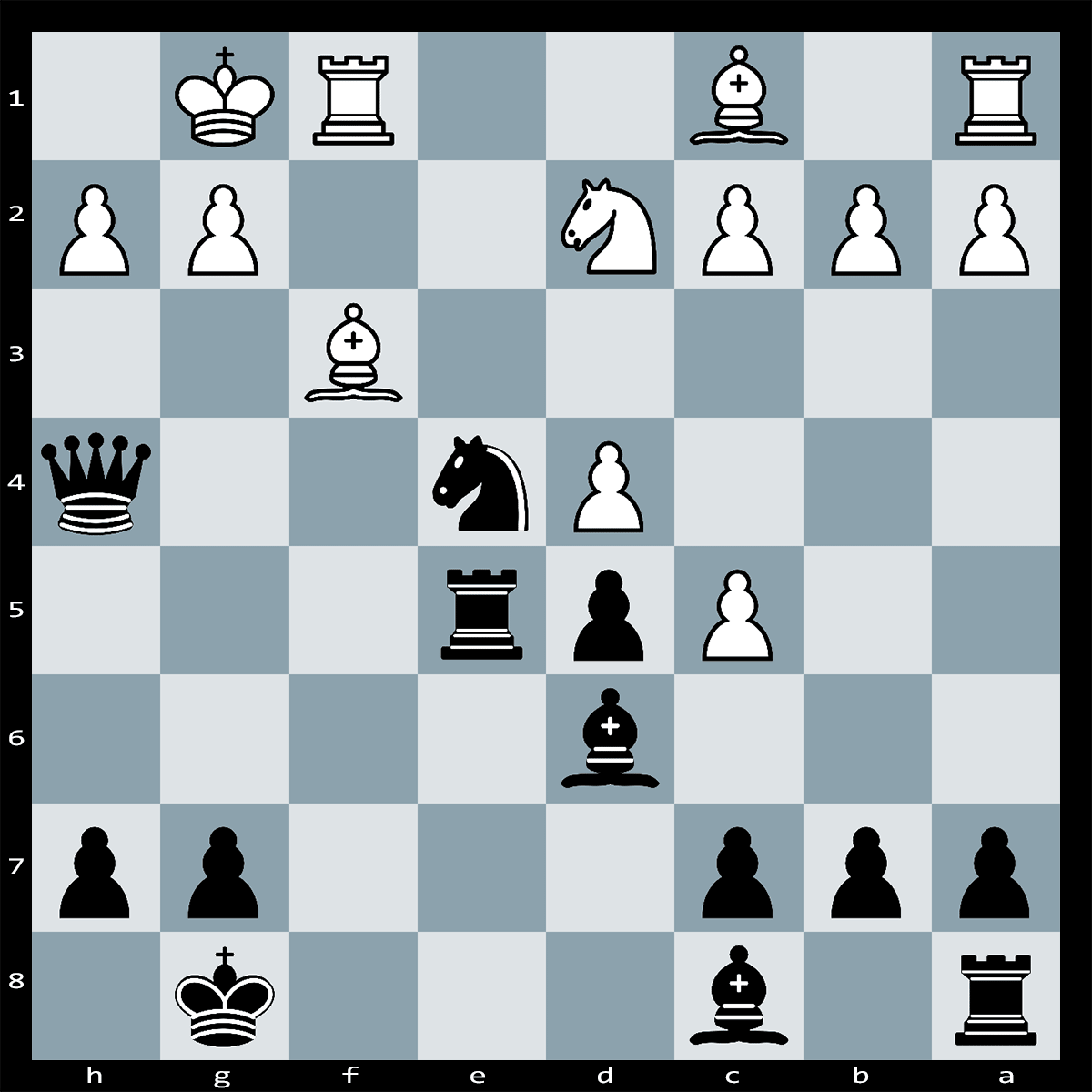 Can you find the winning combination to this puzzle? Black to Play, Mate in 4 Moves.