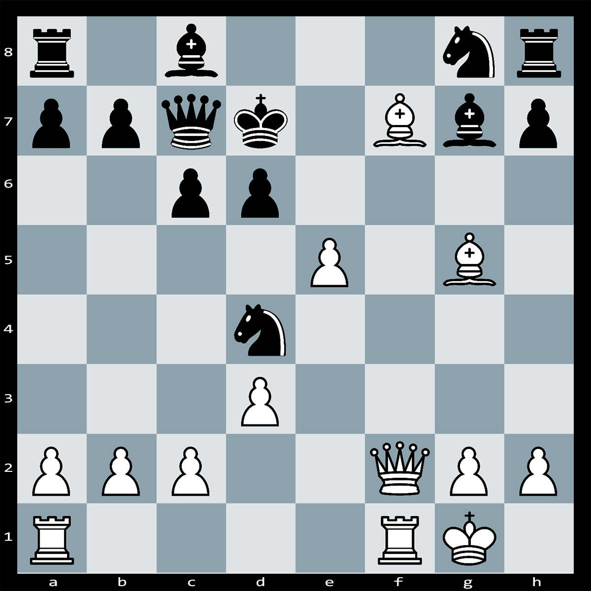 Chess Puzzle #345 | There is a powerful move that wins the game for white, can you spot it?