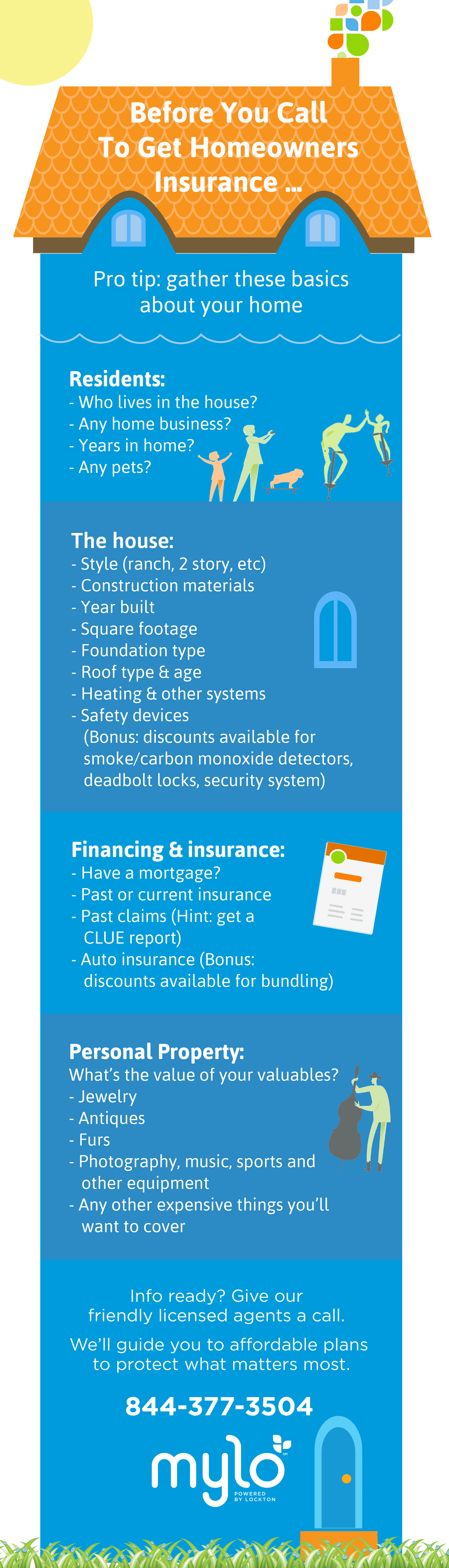 Homeowners Insurance Shopping Checklist Graphic