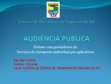 20-11 Debate com prestadores de Serviços de transporte individual por aplicativos