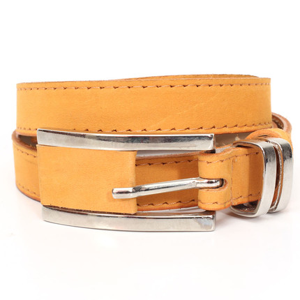 Cinturón de cuero Las Ninetas naranja, Las Ninetas