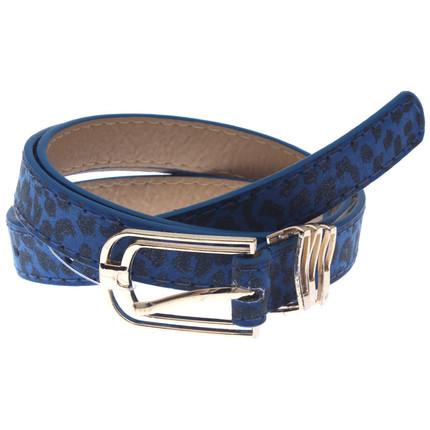 Cinturón azul animal print, Giup