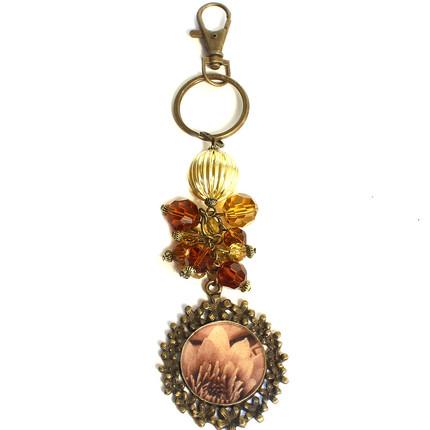 LLavero medallón flor, ShenShina