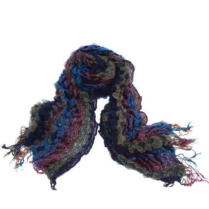 Bufanda multicolor con flecos, Clauden